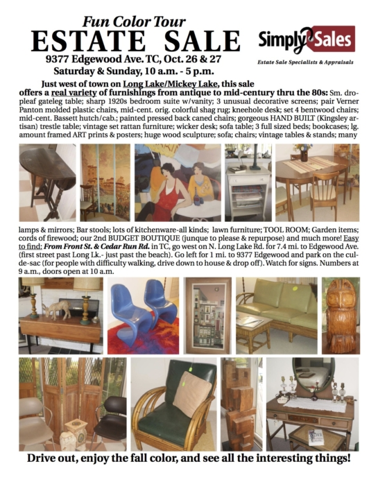 Mickey Lake Estate Sale Flyer