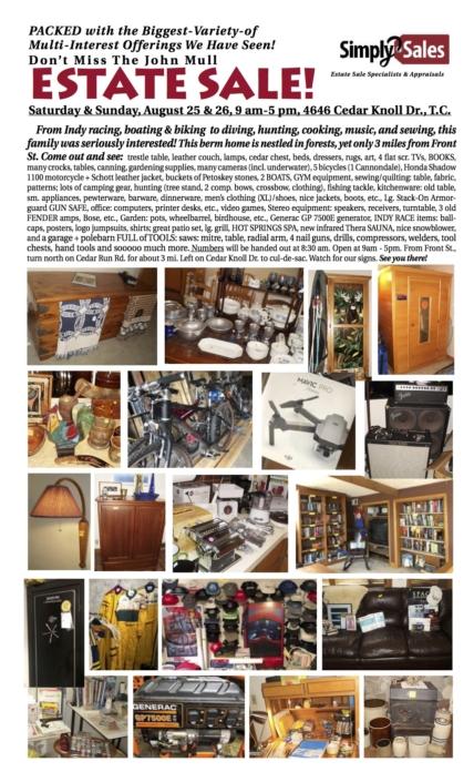 John Mull Estate Sale Flyer