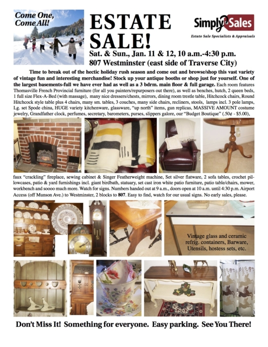 Maxson Estate Sale Flyer