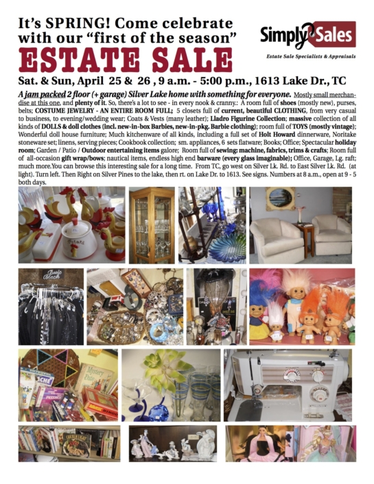 Silver Lake Estate Sale Flyer