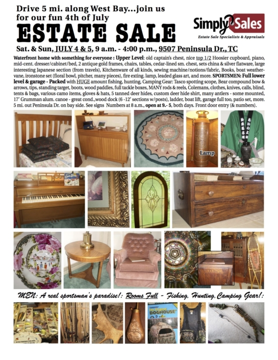 West Bay Estate Sale Flyer