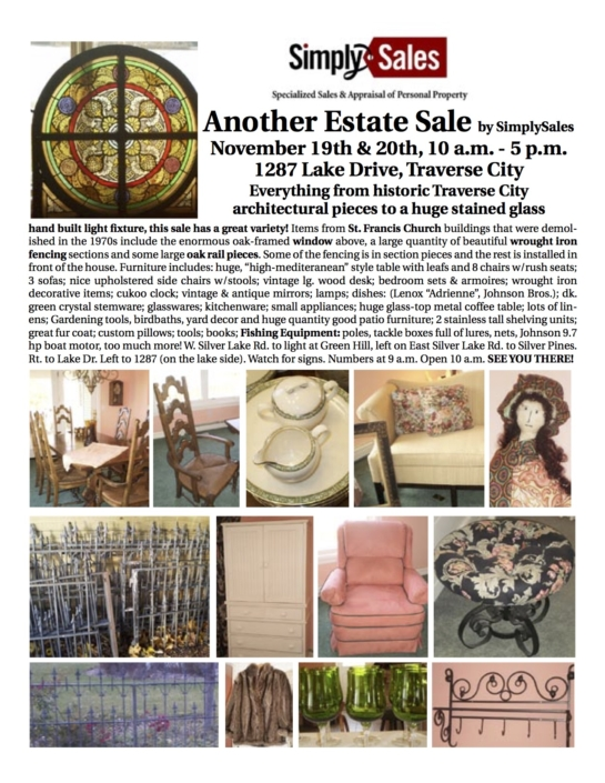 Peterman Estate Sale Flyer