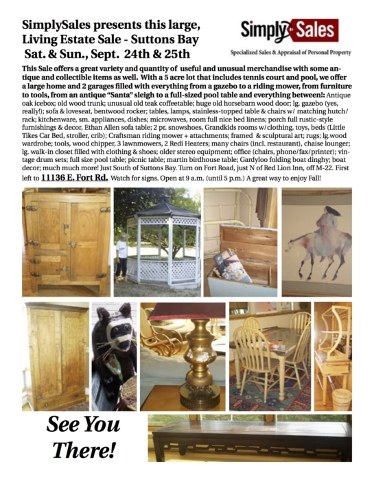 Pownall Suttons Bay Sale Flyer