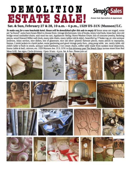 munson ave demolition estate sale flyer