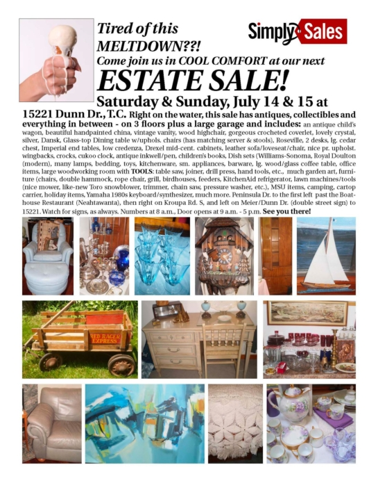 June 2012 Dunn Drive TC Estate Sale Flyer