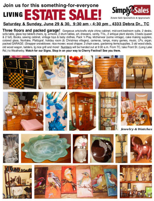 Traverse City June 2019 Estate Sale